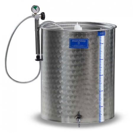 Cisterna inox Marchisio SPA200B, 200 litri, capac flotant cu garnitura, 650x650 mm