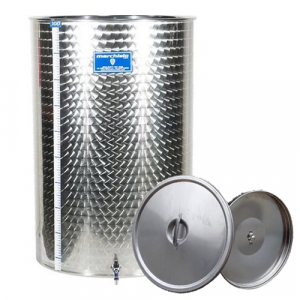 Cisterna inox Marchisio SPO2150, 2150 litri, capac flotant cu ulei de parafina, 1190x2000 mm [0]