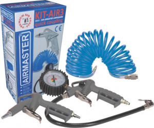 Compresor cu piston Airmaster AIR2SHU850-KIT-AIR3, 50 L, 8 bar, 206 l/min, 2 CP, monofazat + Kit 3 accesorii [2]