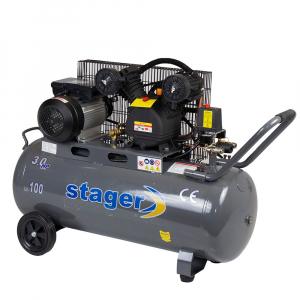 Compresor cu piston Stager HMV0.25/100, 100 L, 8 bar, 250 l/min, 3 CP, monofazat [0]
