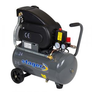 Compresor cu piston Stager HM2024F, 24 L, 8 bar, 200 l/min, 2 CP, monofazat [0]