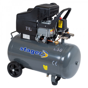 Compresor cu piston Stager HM2050B, 50 L, 8 bar, 200 l/min, 2 CP, monofazat [0]