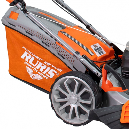 Masina de tuns gazon Ruris RX500S, 5.7 CP, 53 cm, 65 L, autopropulsata, variator viteza6