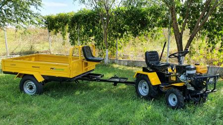 Mini tractor ProGARDEN Campo 1856-4WD, 4x4, 18 CP, benzina, 4+1 viteze [6]