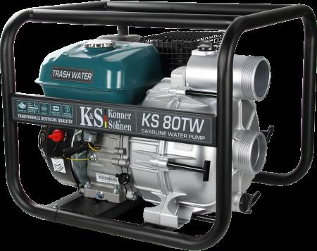 "Motopompa apa murdara Könner & Söhnen KS 80TW, 3"", 7 CP, benzina, 1100 l/min, Hmax. 26 m [1]"