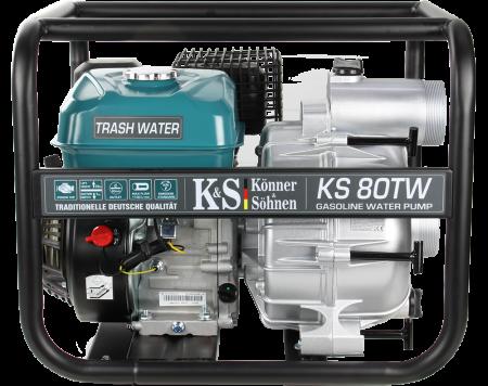 "Motopompa apa murdara Könner & Söhnen KS 80TW, 3"", 7 CP, benzina, 1100 l/min, Hmax. 26 m [2]"