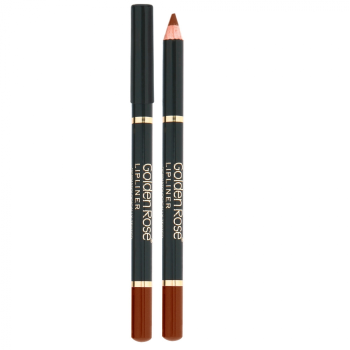 Creion de Buze Golden Rose Wooden Bej si Maro 0