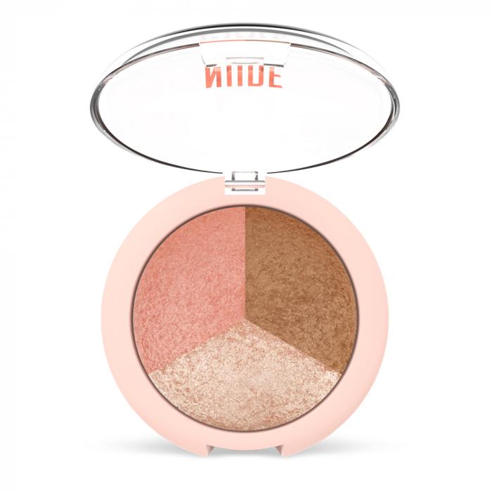 Paleta pentru contur Golden Rose Nude Look Baked Trio 0