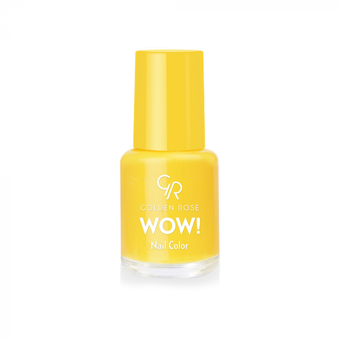 Lac de unghii Golden Rose Wow Galben 6 ml 0