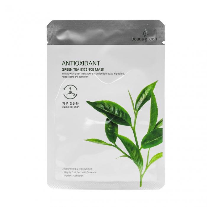 Masca Textila de Fata cu Ser Calmant Beauugreen Vitalizing Green Tea 23gr [0]