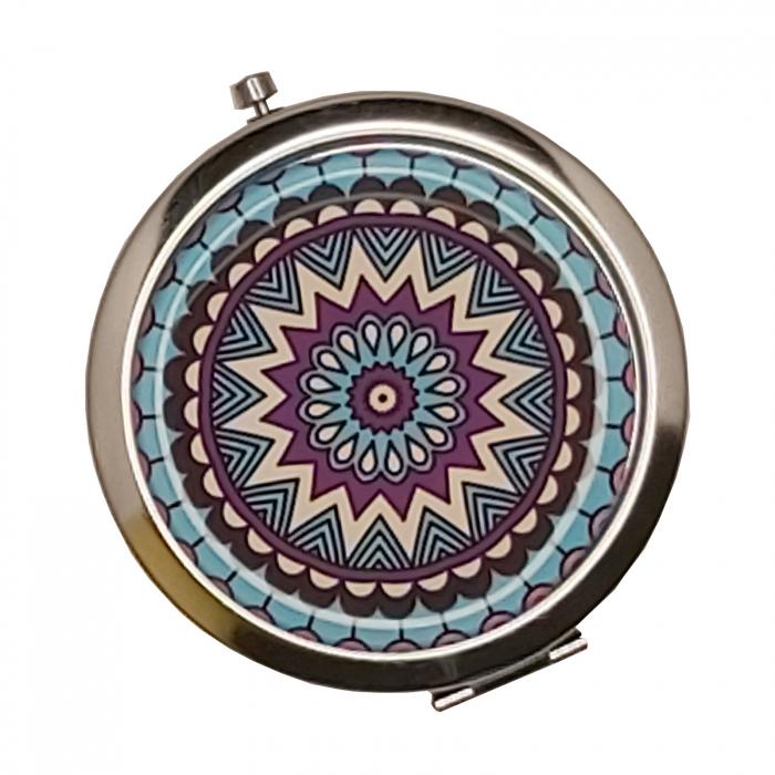 Oglinda cosmetica fashion de poseta din Inox 7cm 1