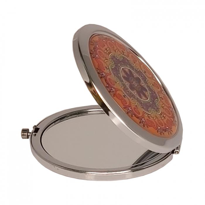 Oglinda cosmetica fashion de poseta din Inox 7cm [0]