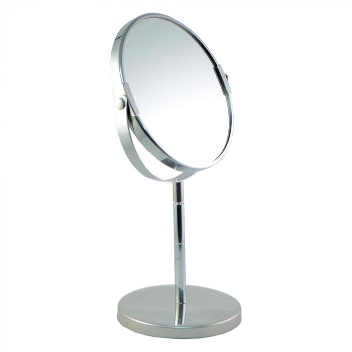Oglinda cosmetica cu picior din metal 15cm 0