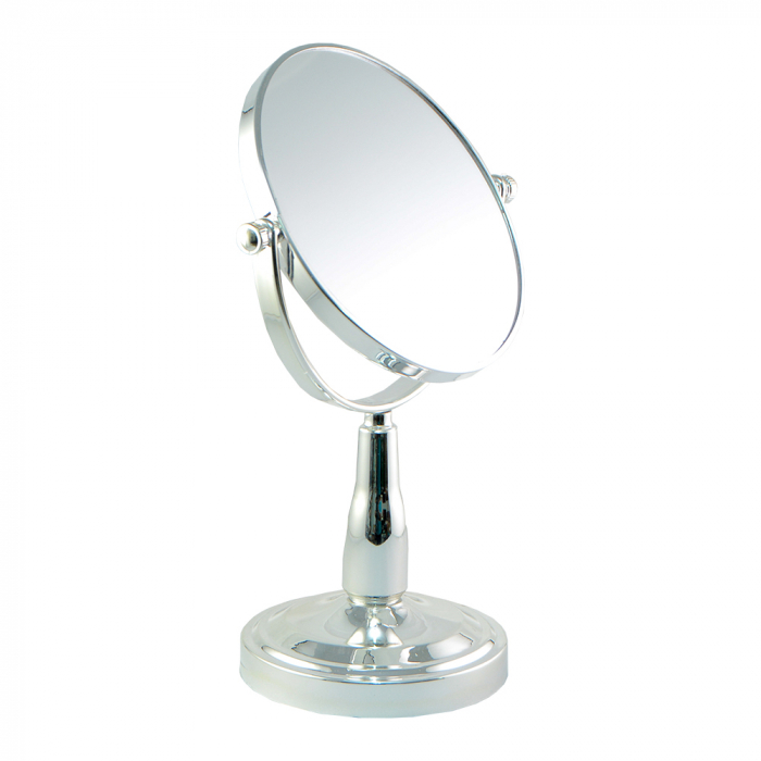 Oglinda cosmetica cu picior din metal si plastic 20cm 0