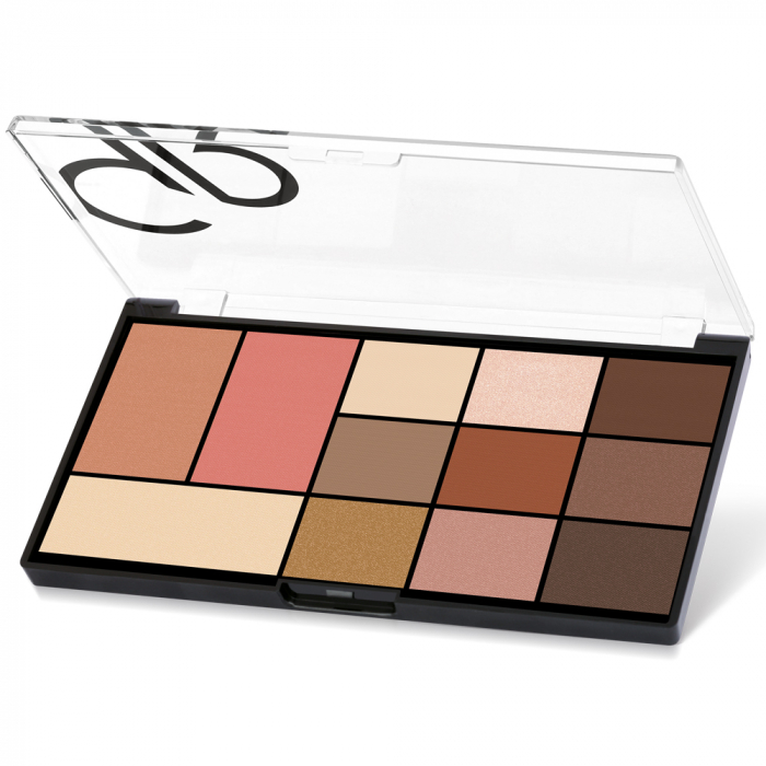 Paleta pentru fata si ochi Golden Rose City Style 01 Warm Nude 0