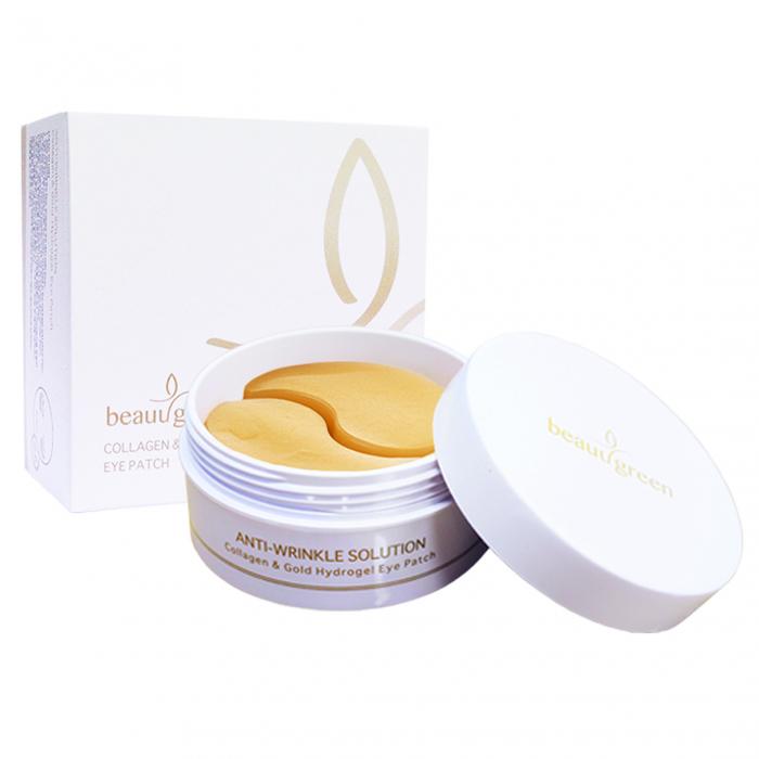 Plasturi Anticearcan pentru Ochi Beauugreen Collagen & Gold 90gr/60bc [0]