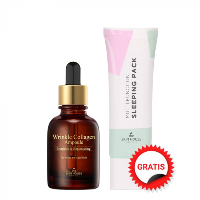 Set Antirid The Skin House Wrinkle Collagen Ser Concentrat 30ml si Masca Cremă pentru Față Gratuita! [0]
