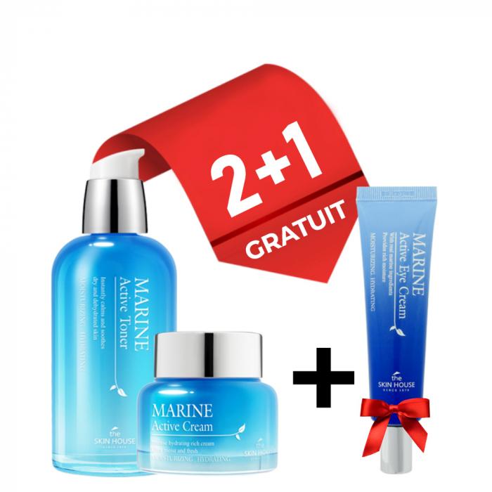 Set Hidratant The Skin House Marine Active Crema Fata, Toner si Crema Ochi Gratuita 0