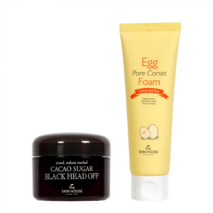 Set pentru Curatare The Skin House Scrub Exfoliant si Spuma de Curatare Egg Pore Corset Foam [0]