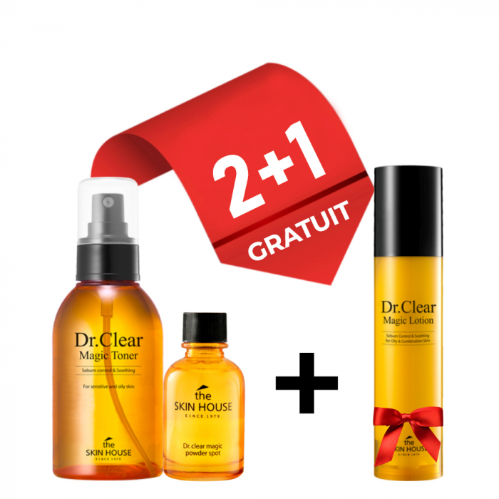 Set Tratare Acnee The Skin House Dr. Clear Magic Toner, Tratament Local si Lotiune Gratuita 0