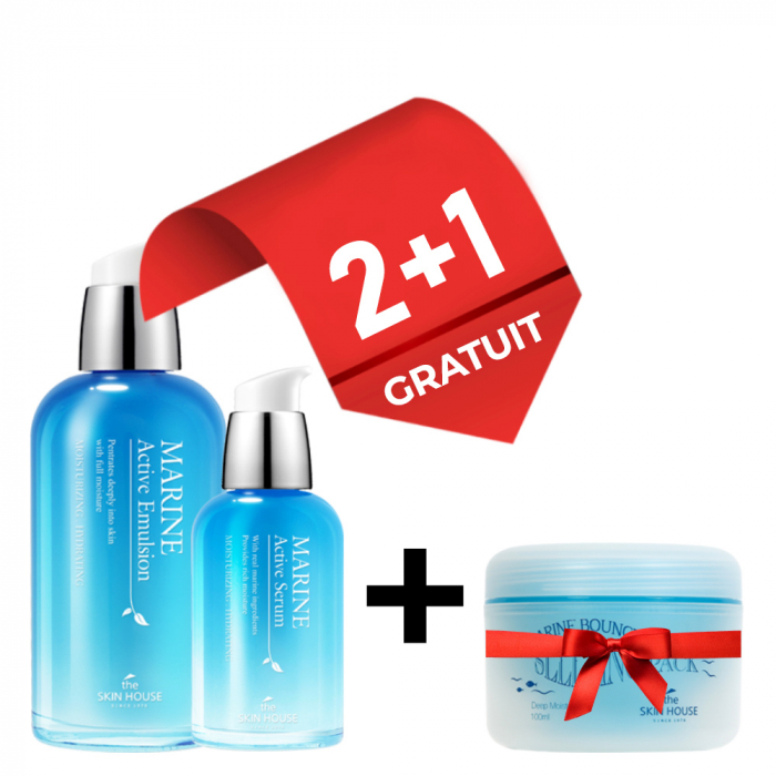 Set Hidratant The Skin House Marine Active Ser, Emulsie si Masca Fata Gratuita 0