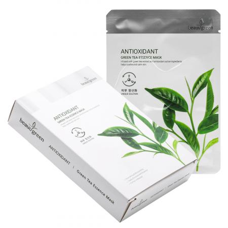 Masca Textila de Fata cu Ser Calmant Beauugreen Vitalizing Green Tea 23gr [1]