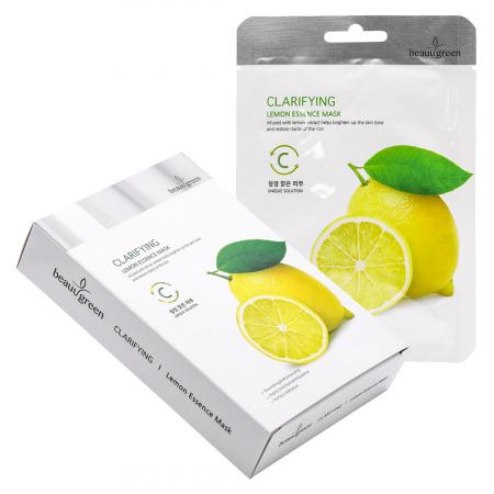 Masca Textila de Fata cu Ser Luminozitate Beauugreen Clarifying Lemon 23gr [1]