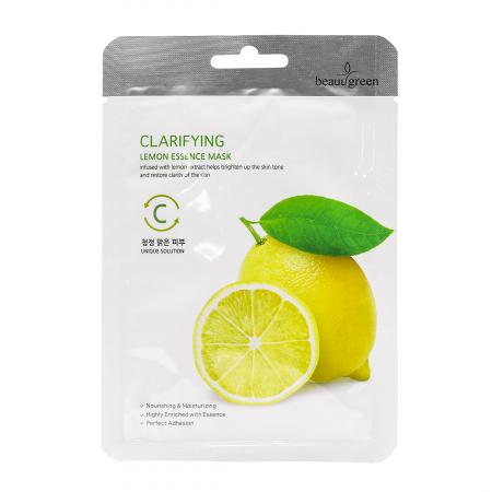 Masca Textila de Fata cu Ser Luminozitate Beauugreen Clarifying Lemon 23gr [0]