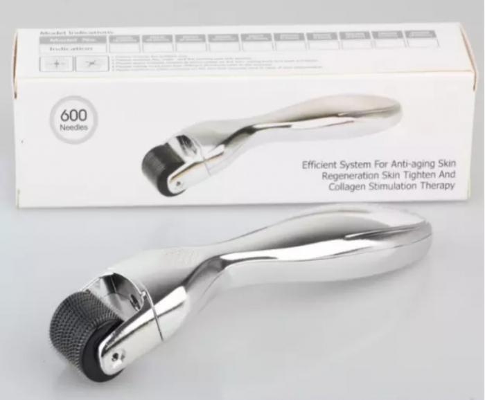 Dermaroller DRS 600 pini- Argintiu 0