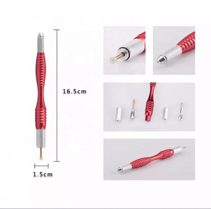 Stilou Microblading Aluminiu Cu Doua Capete. 2 1