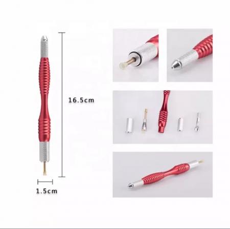 Stilou Microblading Aluminiu Cu Doua Capete. 21