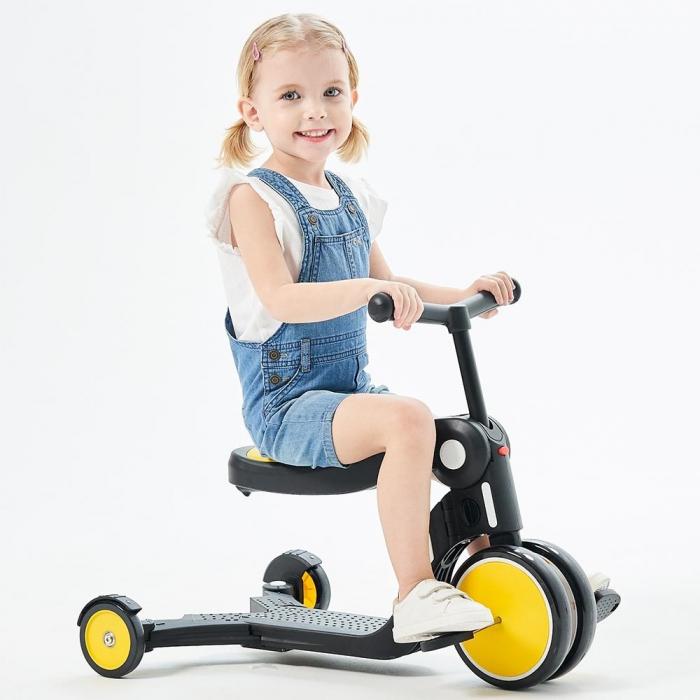 Bicicleta, tricicleta si trotineta Chipolino All Ride 4 in 1 yellow [2]