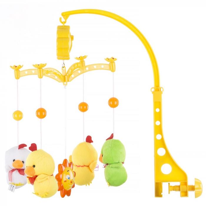 Carusel muzical pentru patut Chipolino Two Yellow Ducks [0]