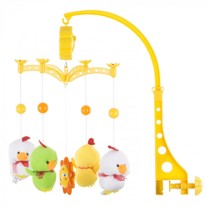 Carusel muzical pentru patut Chipolino Two White Ducks [0]