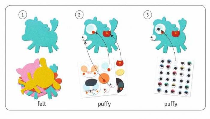 Colaje animale din fetru Djeco [1]