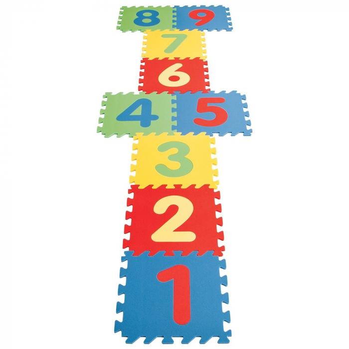 Covoras puzzle cu cifre pentru copii Pilsan Educational Polyethylene Play Mat [0]