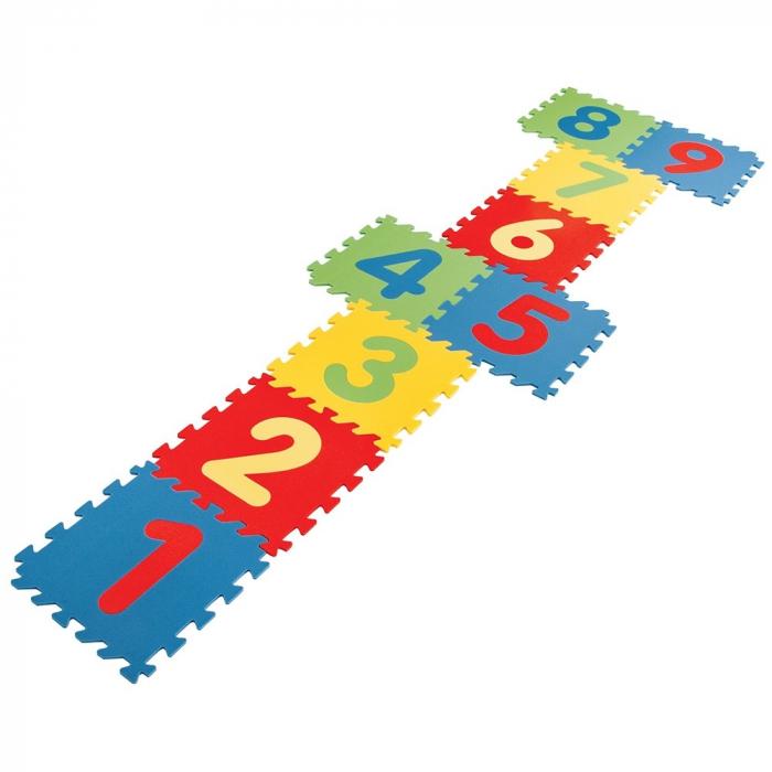 Covoras puzzle cu cifre pentru copii Pilsan Educational Polyethylene Play Mat [1]