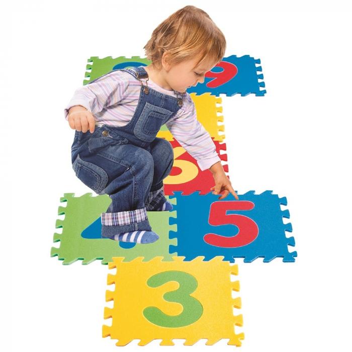 Covoras puzzle cu cifre pentru copii Pilsan Educational Polyethylene Play Mat [3]