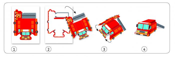 Creeaza jucarii din hartie Vehicule Djeco [2]