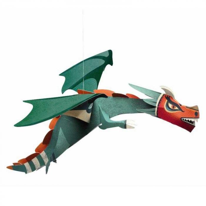 Decor camera copil Dragon, Djeco [0]