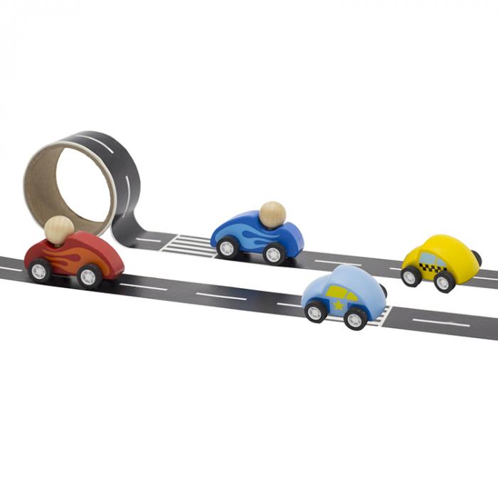 Drum autocolant cu masinuta albastra inchisa [0]