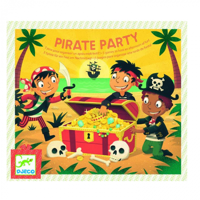 Joc de petrecere Djeco Pirate Party - Gaseste comoara [0]