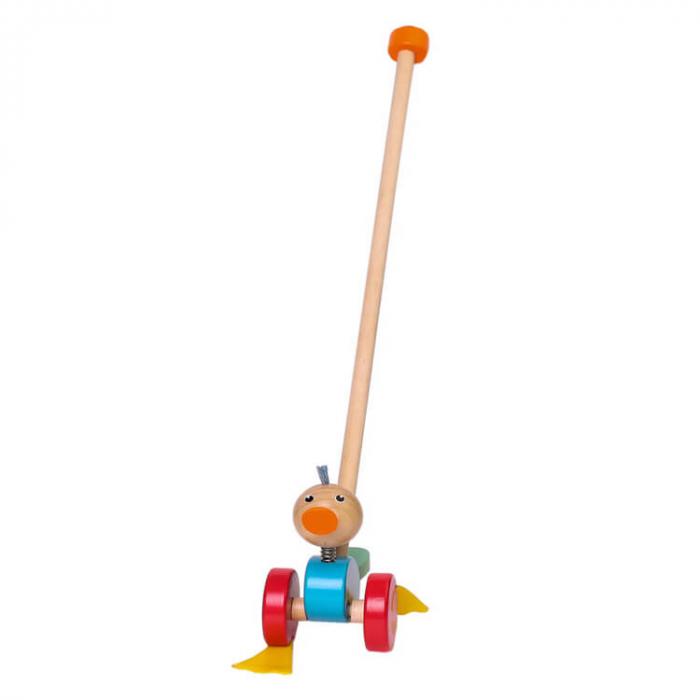 Jucărie de împins răţuşca din lemn [0]