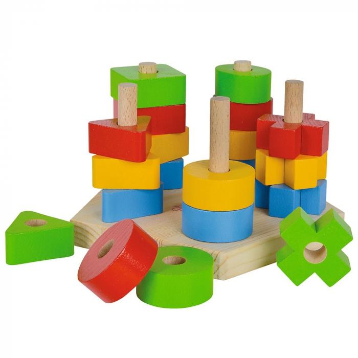 Jucarie de stivuit forme din lemn Eichhorn Stacking Toy [0]