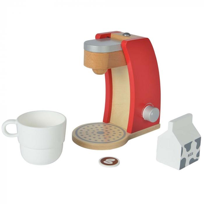 Jucarie espressor din lemn cu accesorii Eichhorn coffe machine [0]