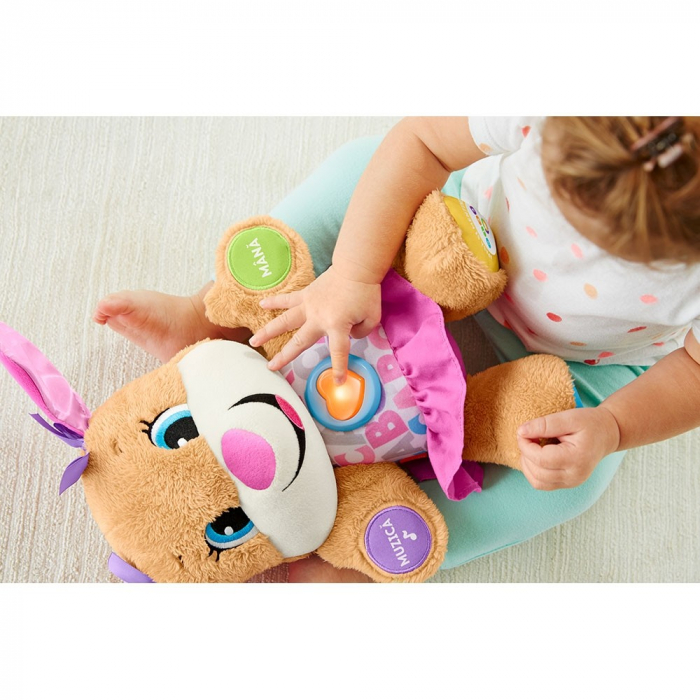 Jucarie Laugh and Learn Sis Catelusul vorbitor in limba romana Fisher Price [1]