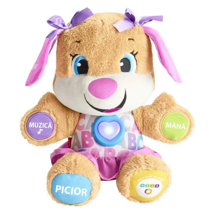 Jucarie Laugh and Learn Sis Catelusul vorbitor in limba romana Fisher Price [0]