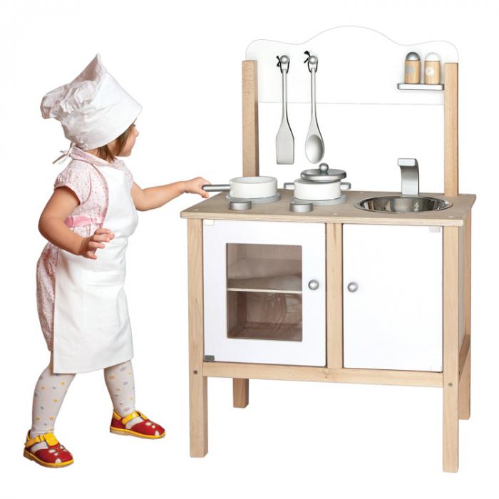 Jucarie set mobila de bucatarie pentru copii alb [1]