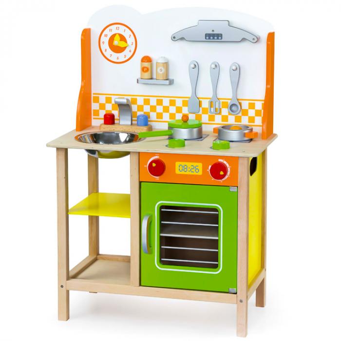 Jucarie set mobila de bucatarie pentru copii verde-portocaliu [0]
