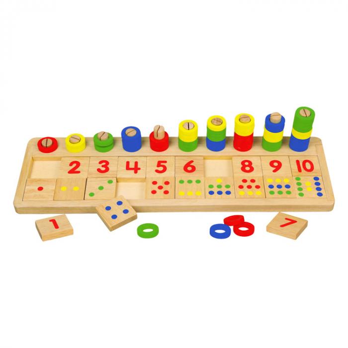 Jucarie educativa abac din lemn [0]